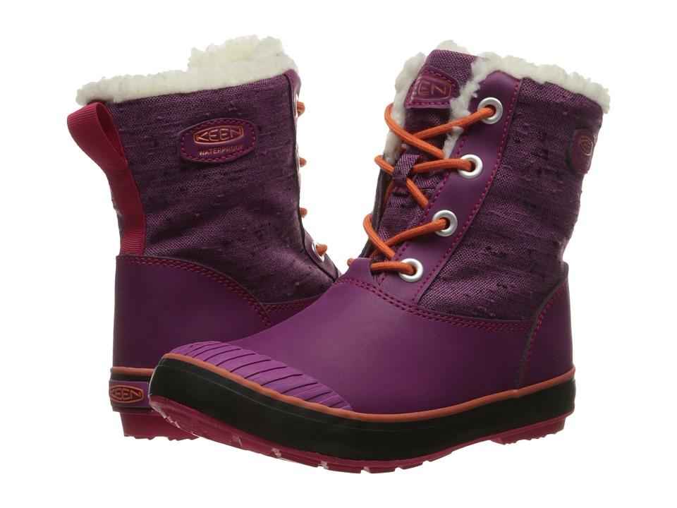 Keen Kids - Elsa Boot WP (Little Kid/Big Kid) (Purple Wine/Tigerlily) Girls Shoes