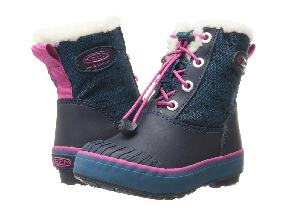 Keen Kids - Elsa Boot WP (Toddler/Little Kid) (Ink Blue/Very Berry) Girls Shoes