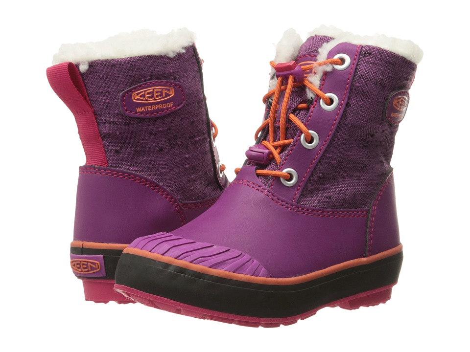 Keen Kids Elsa Boot WP (Toddler/Little Kid) (Purple Wine/Tigerlily) Girls Shoes