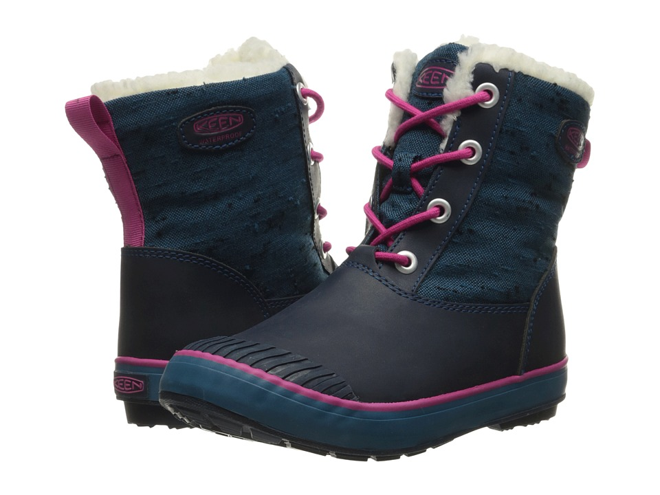 Keen Kids - Elsa Boot WP (Little Kid/Big Kid) (Ink Blue/Very Berry) Girls Shoes