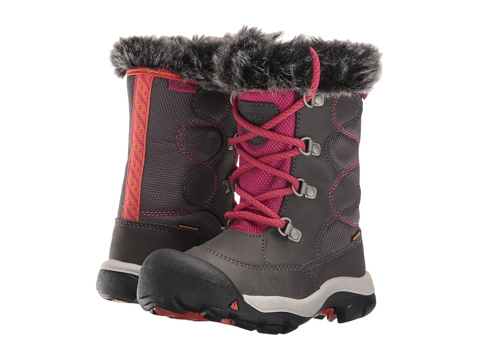 Keen Kids - Kelsey Boot WP (Toddler/Little Kid) (Magnet/Tigerlily) Girls Shoes