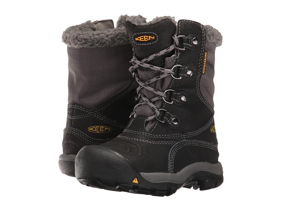 Keen Kids Basin WP (Toddler/Little Kid) (Black/Gargoyle) Boys Shoes