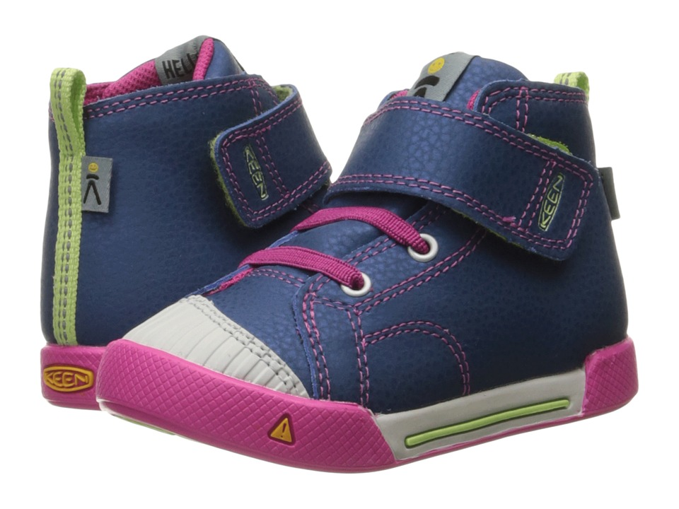 Keen Kids - Encanto Scout High Top (Toddler) (Poseidon/Very Berry) Girls Shoes