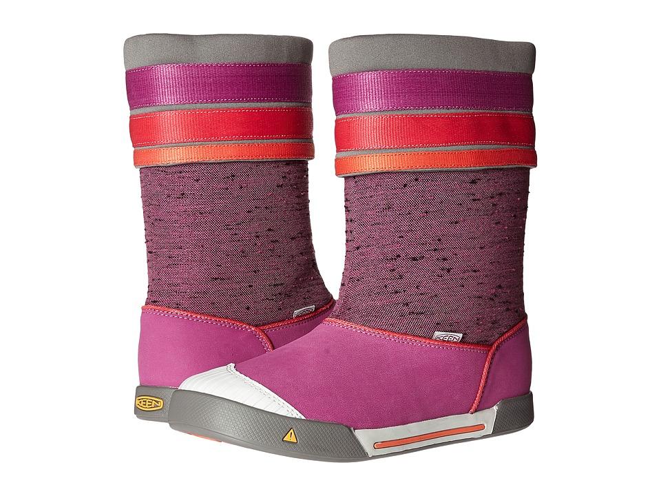 Keen Kids - Encanto Madison Boot (Little Kid/Big Kid) (Purple Wine/Tigerlily) Girls Shoes