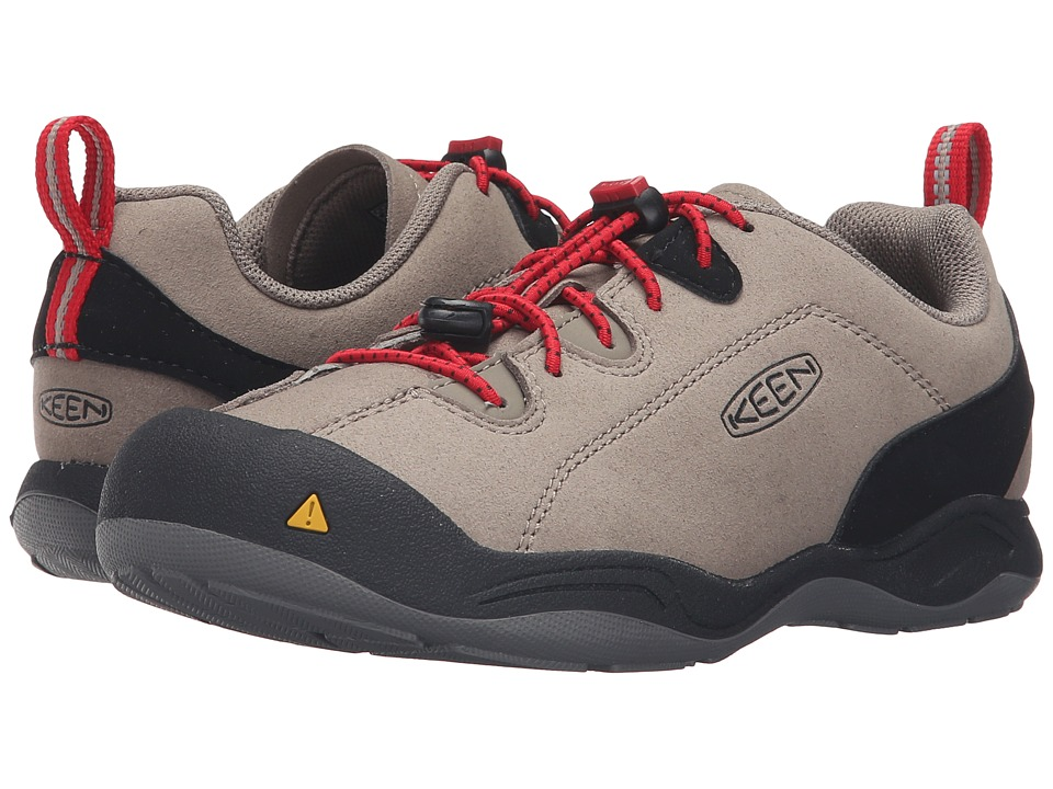 Keen Kids - Jasper (Little Kid/Big Kid) (Brindle/Tango Red) Kids Shoes