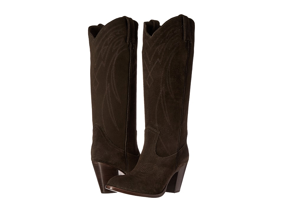 Frye - Ilana Pull On (Fatigue Oiled Suede) Cowboy Boots