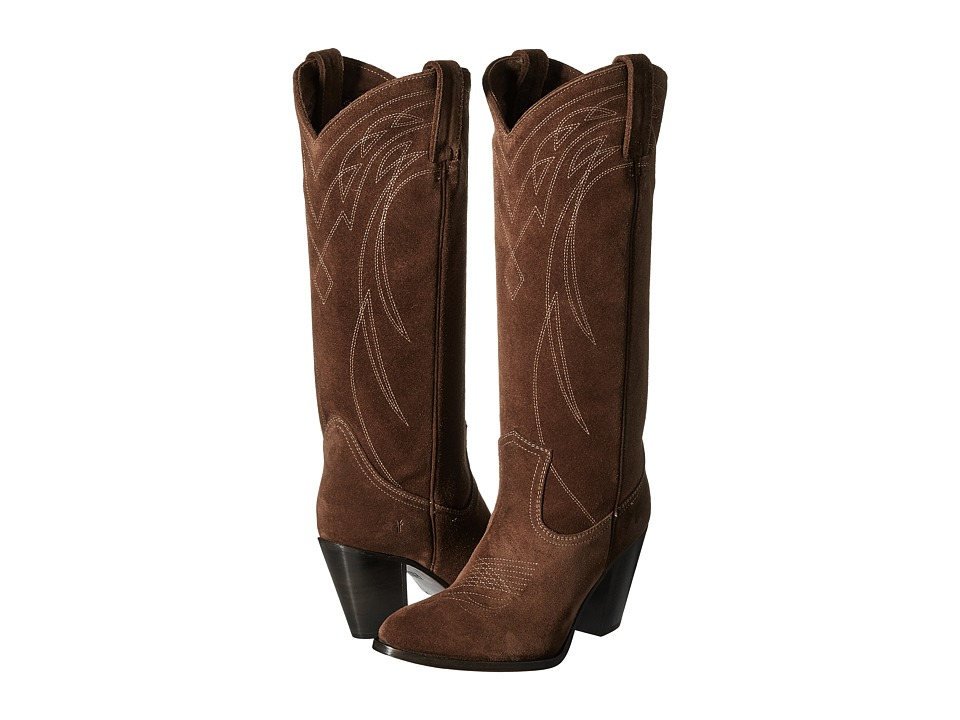 Frye - Ilana Pull On (Wood Oiled Suede) Cowboy Boots