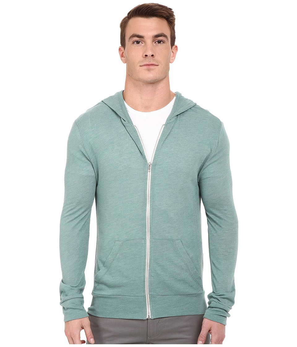 Alternative - L/S Zip Hoodie (Eco True Green Surf) Men's Sweatshirt