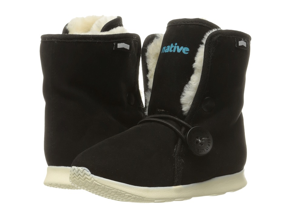 Native Kids Shoes - Luna Child Boot (Toddler/Little Kid) (Jiffy Black/Bone White) Kids Shoes