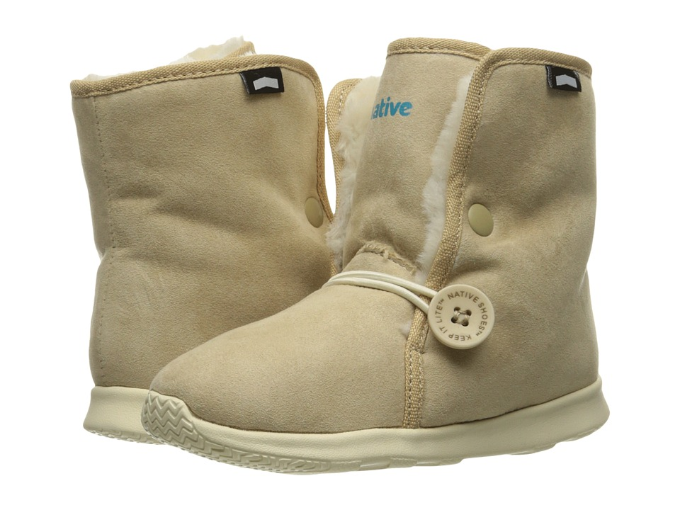 Native Kids Shoes - Luna Child Boot (Toddler/Little Kid) (Rocky Brown/Bone White) Kids Shoes