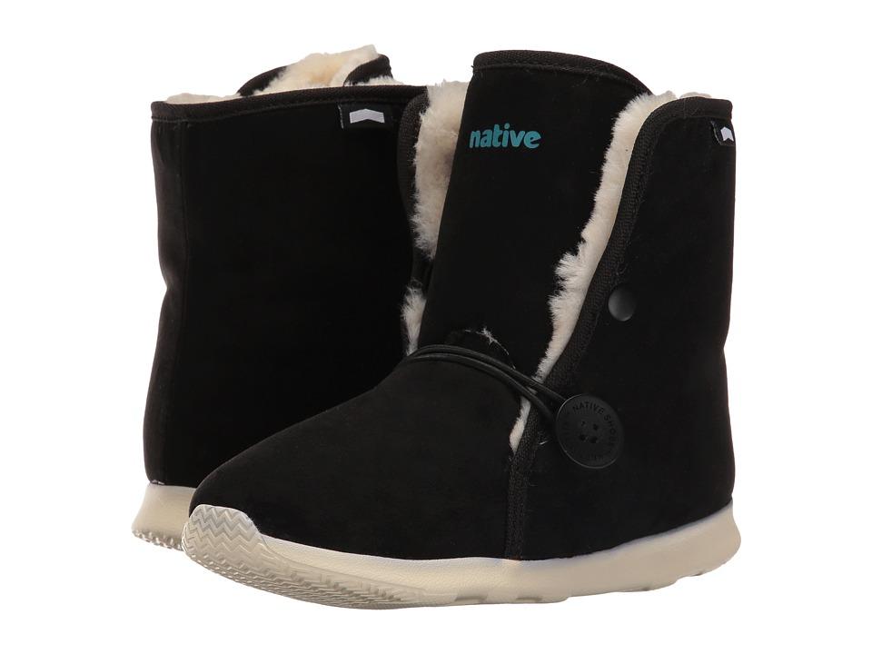 Native Kids Shoes - Luna Junior Boot (Little Kid) (Jiffy Black/Bone White) Kids Shoes