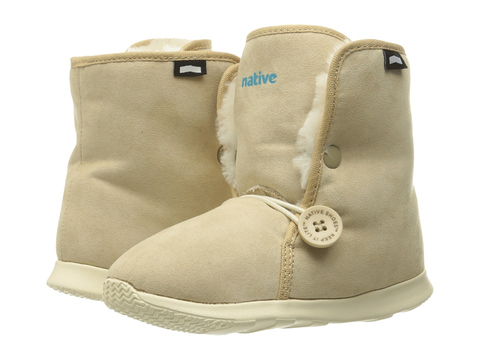 Native Kids Shoes - Luna Junior Boot (Little Kid) (Rocky Brown/Bone White) Kids Shoes