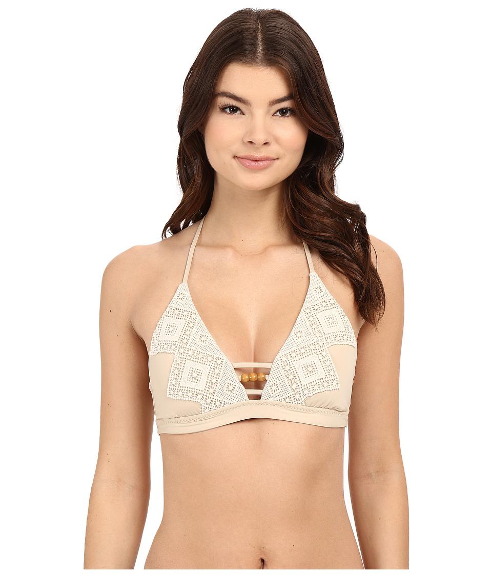 BECCA by Rebecca Virtue - Home Spun Halter Top (Sandy) Women's Swimwear