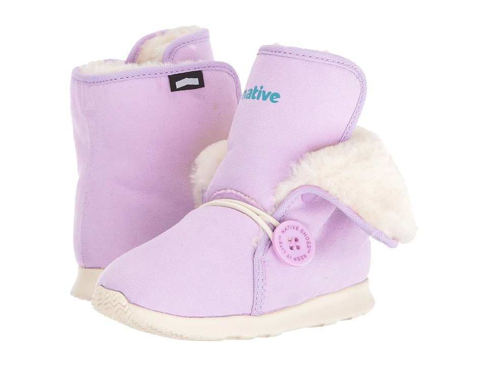 Native Kids Shoes - Luna Child Boot (Toddler/Little Kid) (Sage Purple/Bone White) Girls Shoes