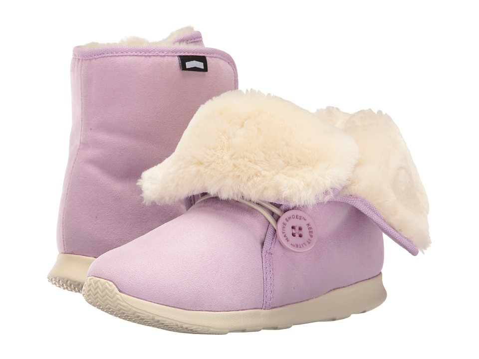 Native Kids Shoes - Luna Junior Boot (Little Kid) (Sage Purple/Bone White) Girls Shoes