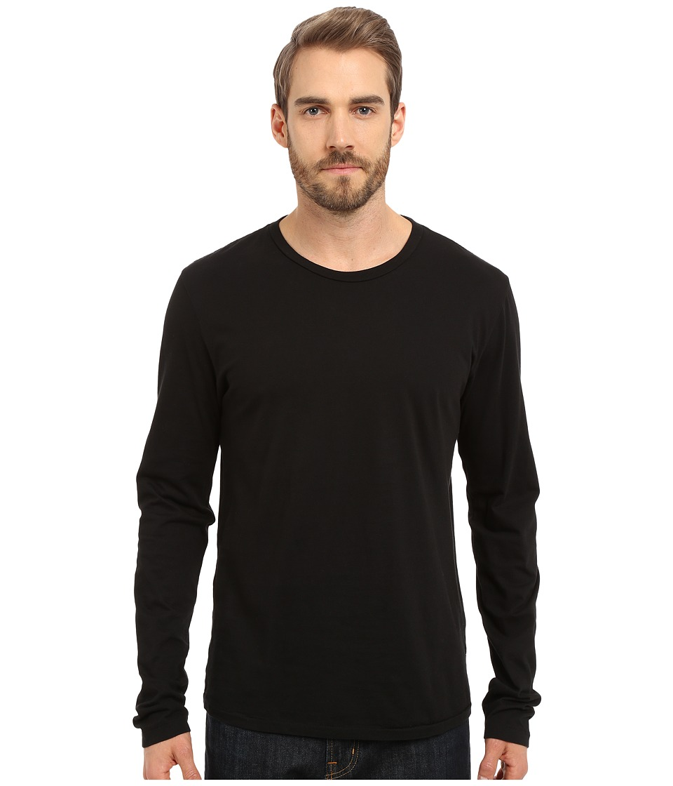 Alternative - Cotton Jersey Heritage Long Sleeve Shirt (Black) Men's Long Sleeve Pullover