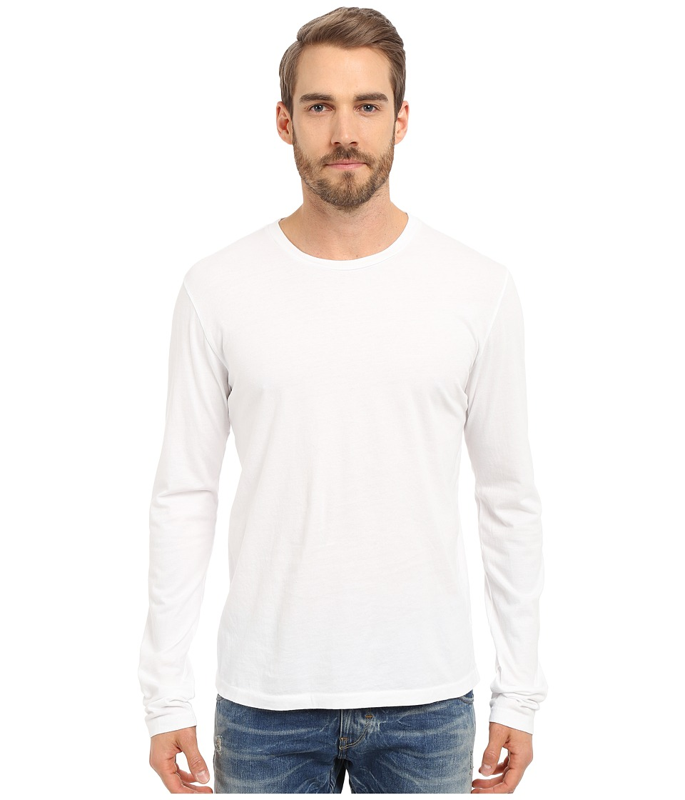 Alternative - Cotton Jersey Heritage Long Sleeve Shirt (White) Men's Long Sleeve Pullover