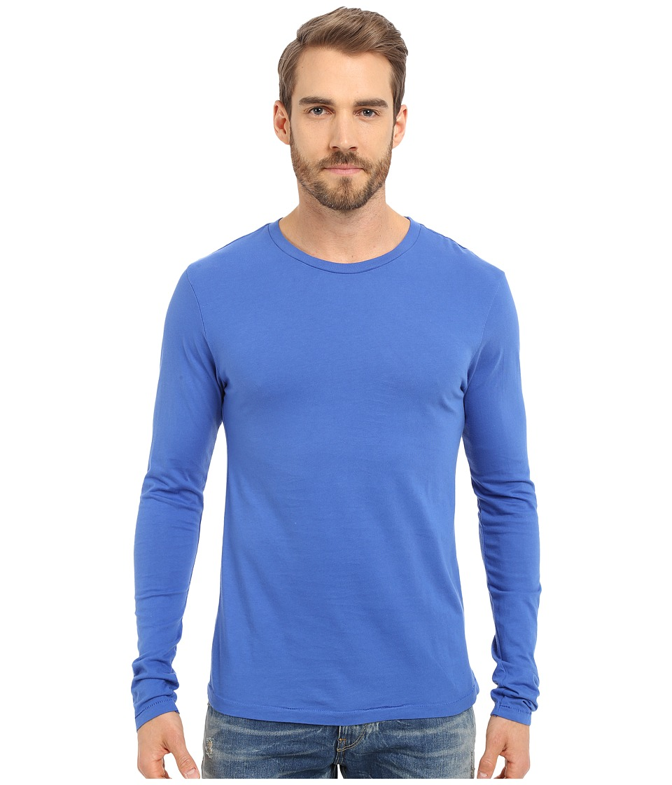 Alternative - Cotton Jersey Heritage Long Sleeve Shirt (Pacific Blue) Men's Long Sleeve Pullover