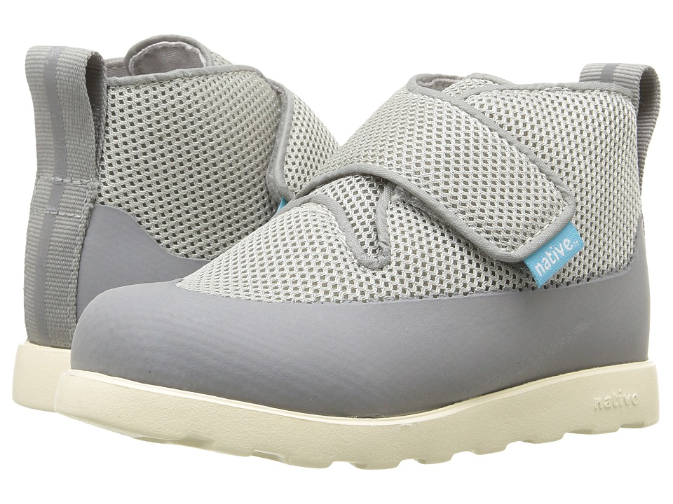 Native Kids Shoes - Fitzroy Fast Boot (Toddler/Little Kid) (Pigeon Grey/Dark Pigeon Grey/Bone White) Kids Shoes