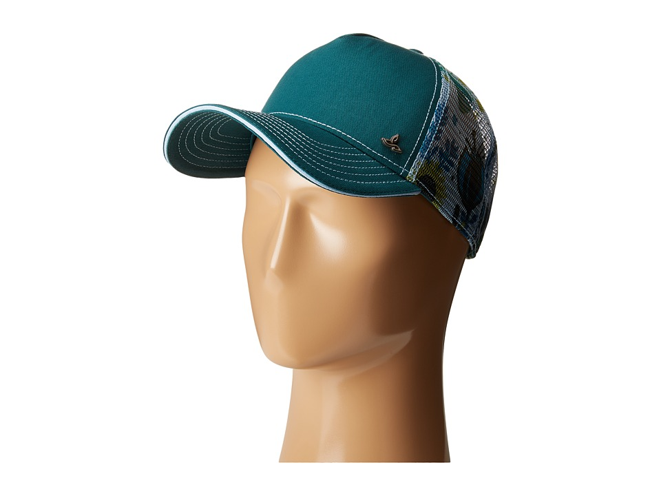 Prana - Idalis Trucker Hat (Deep Teal) Caps