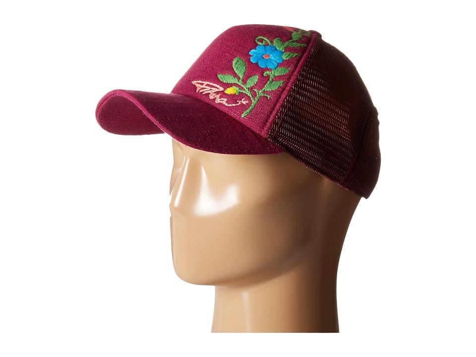 Prana - Embroidered Trucker Hat (Grapevine) Caps