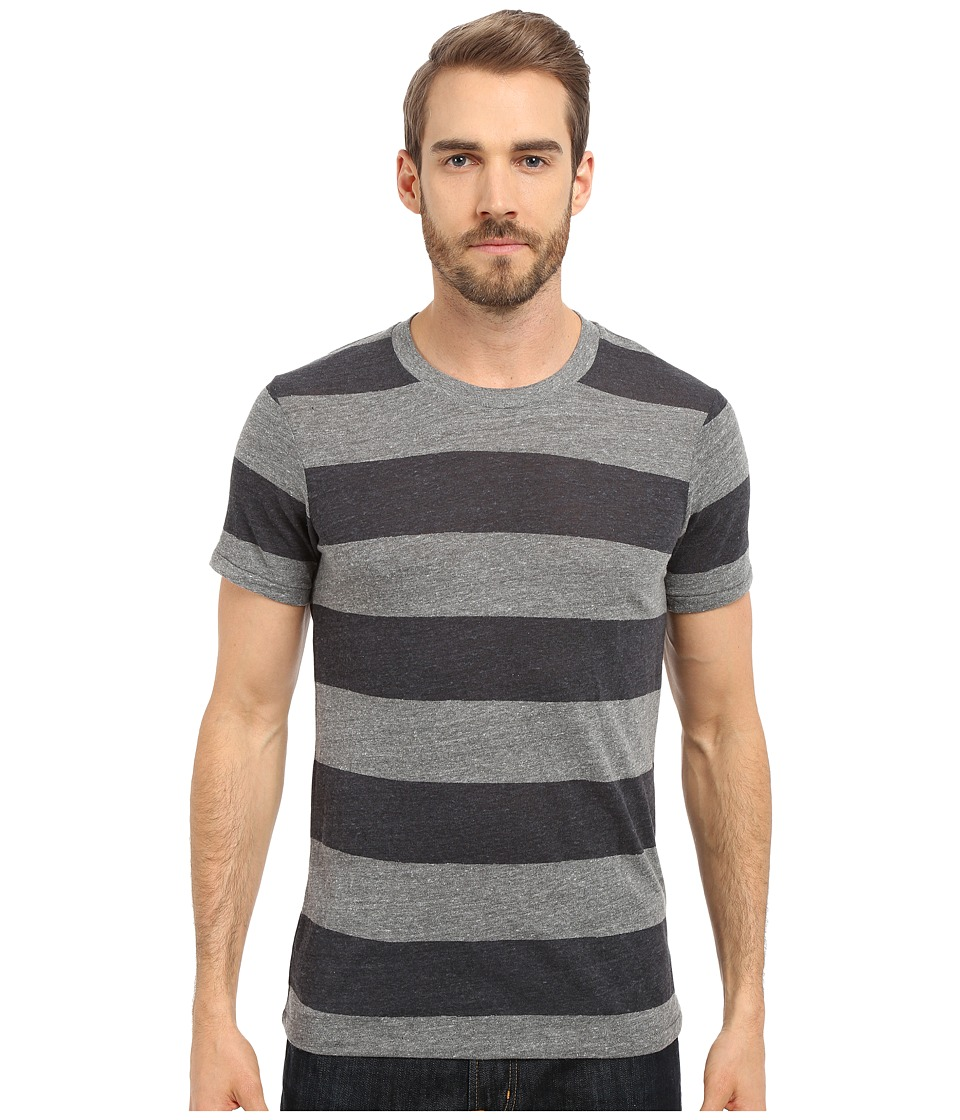 Alternative - Eco Crew (Eco Grey/Iron Weathered Stripe) Men's Short Sleeve Pullover