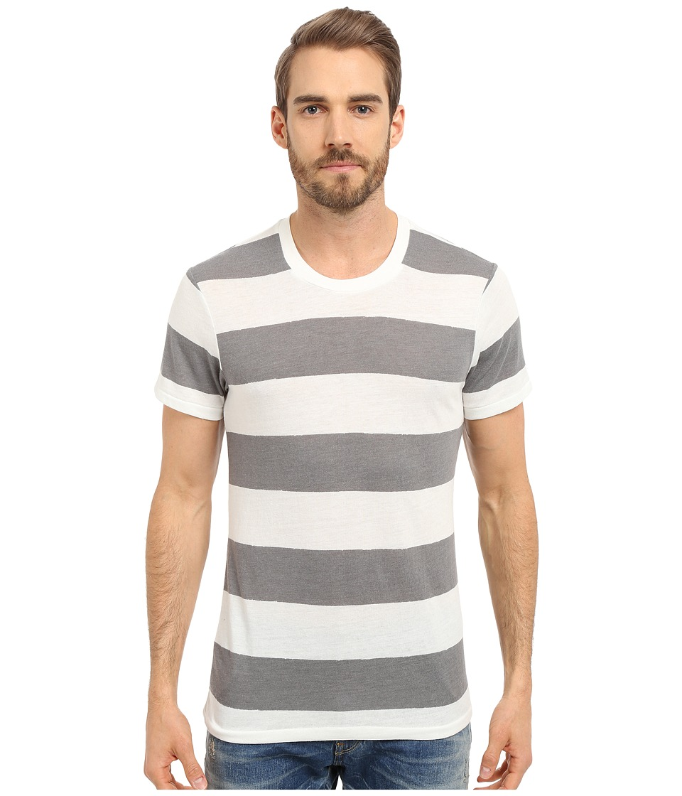 Alternative - Eco Crew (Eco True Grey/White Weathered Stripe) Men's Short Sleeve Pullover