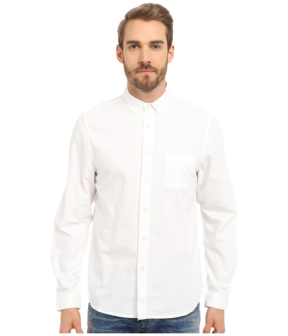 Alternative - Industry Shirt (White Oxford) Men's Long Sleeve Button Up
