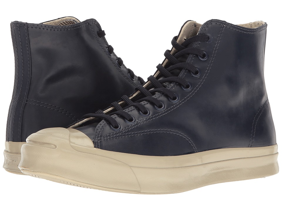 Converse - Jack Purcell Signature Rubber Hi (Inked/Inked/Frayed Burlap) Men's Lace up casual Shoes
