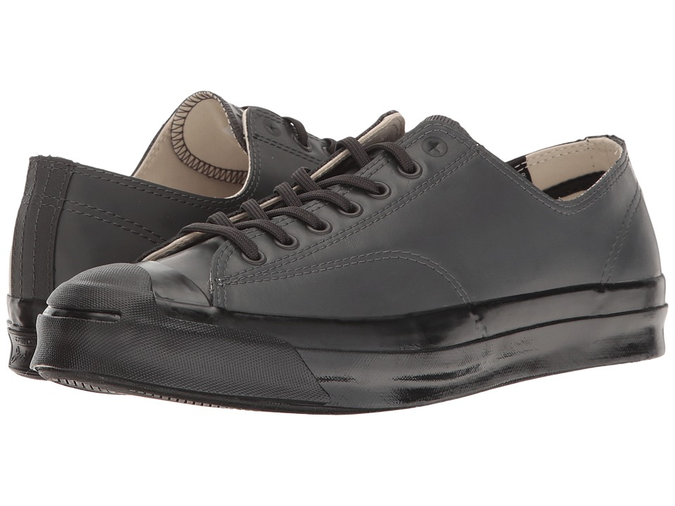 Converse - Jack Purcell Signature Rubber Ox (Almost Black/Black/Black) Men's Lace up casual Shoes