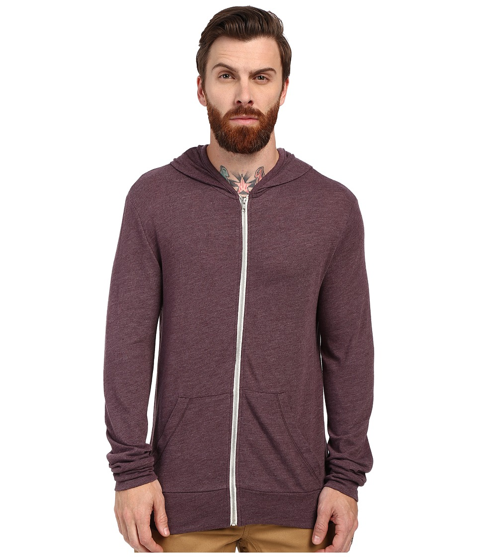 Alternative - L/S Zip Hoodie (Eco True Spring Plum) Men's Sweatshirt