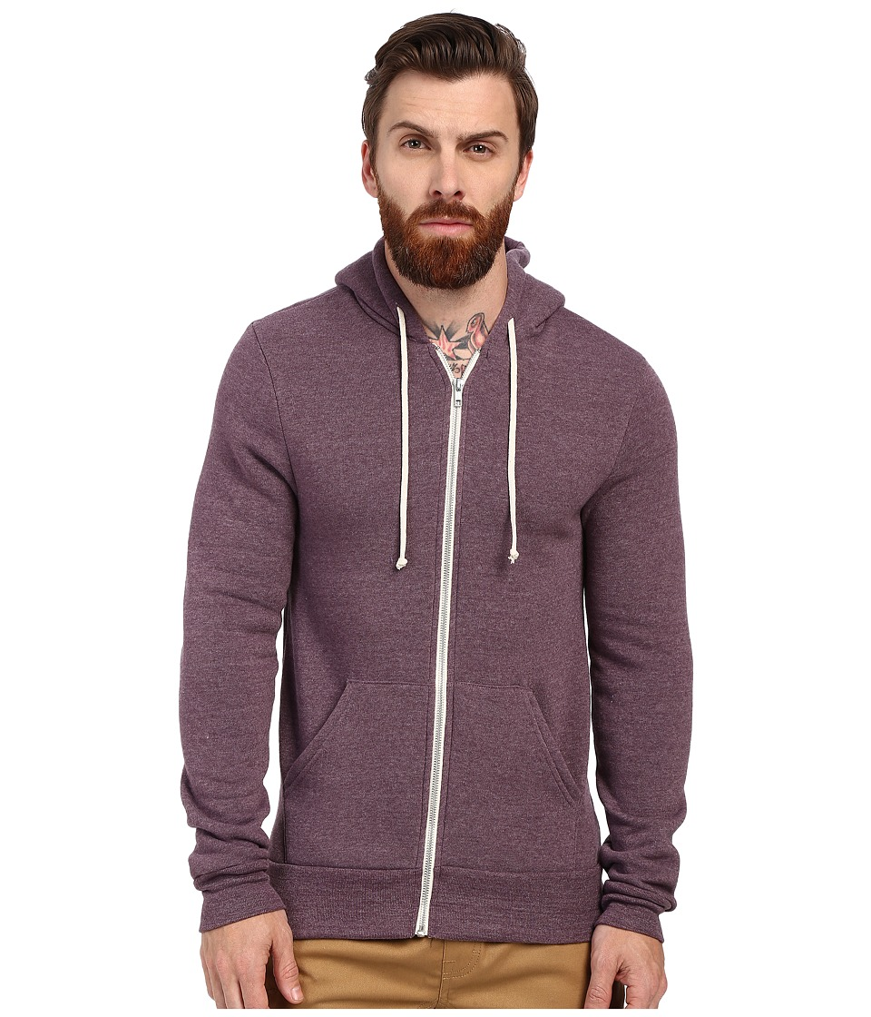 Alternative - Rocky Zip Hoodie (Eco True Spring Plum) Men's Sweatshirt