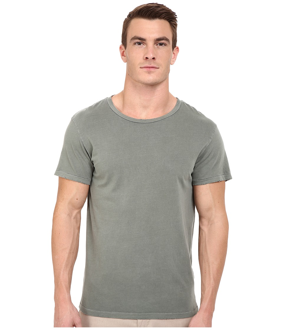 Alternative - Distressed Heritage Tee (Green Pigment) Men's T Shirt