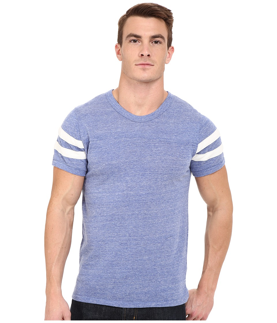 Alternative - Eco S/S Football Tee (Eco Pacific Blue/Eco Ivory) Men's Clothing
