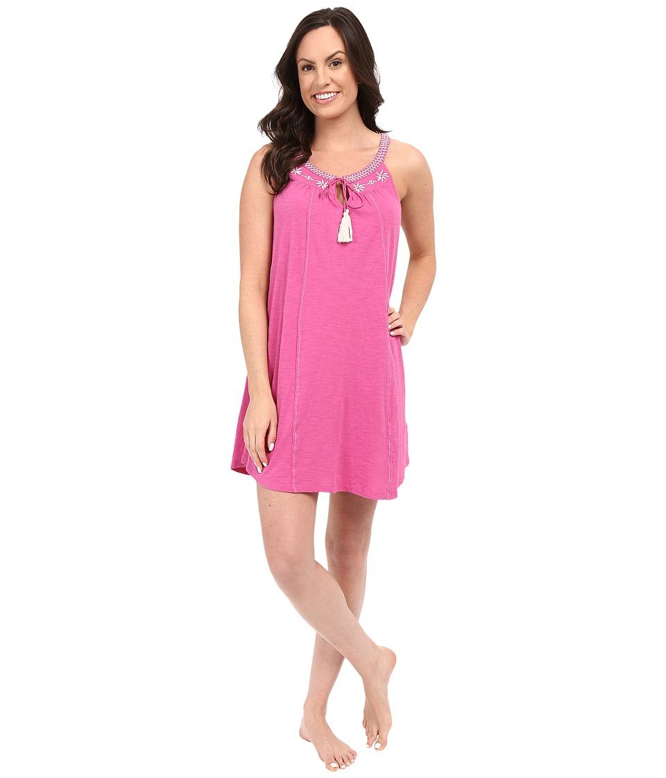 Lucky Brand - Embroidered Slip (Ibis Rose) Women's Pajama
