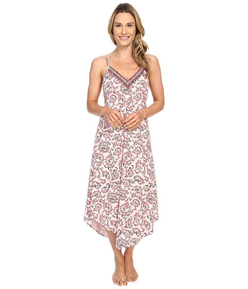 Lucky Brand - Easy Breezy Maxi Slip (Ivy Woodblock Chili) Women's Pajama