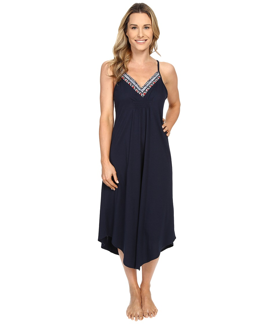 Lucky Brand - Easy Breezy Maxi Slip (True Indigo) Women's Pajama