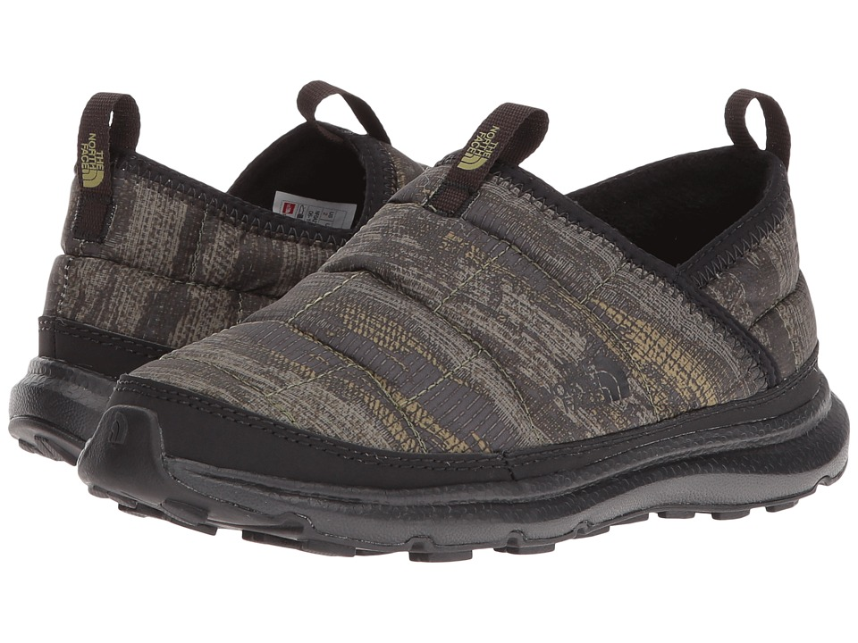The North Face Kids - Thermal Tent Mule (Toddler/Little Kid/Big Kid) (TNF Black/Rosin Green Camo) Boy's Shoes