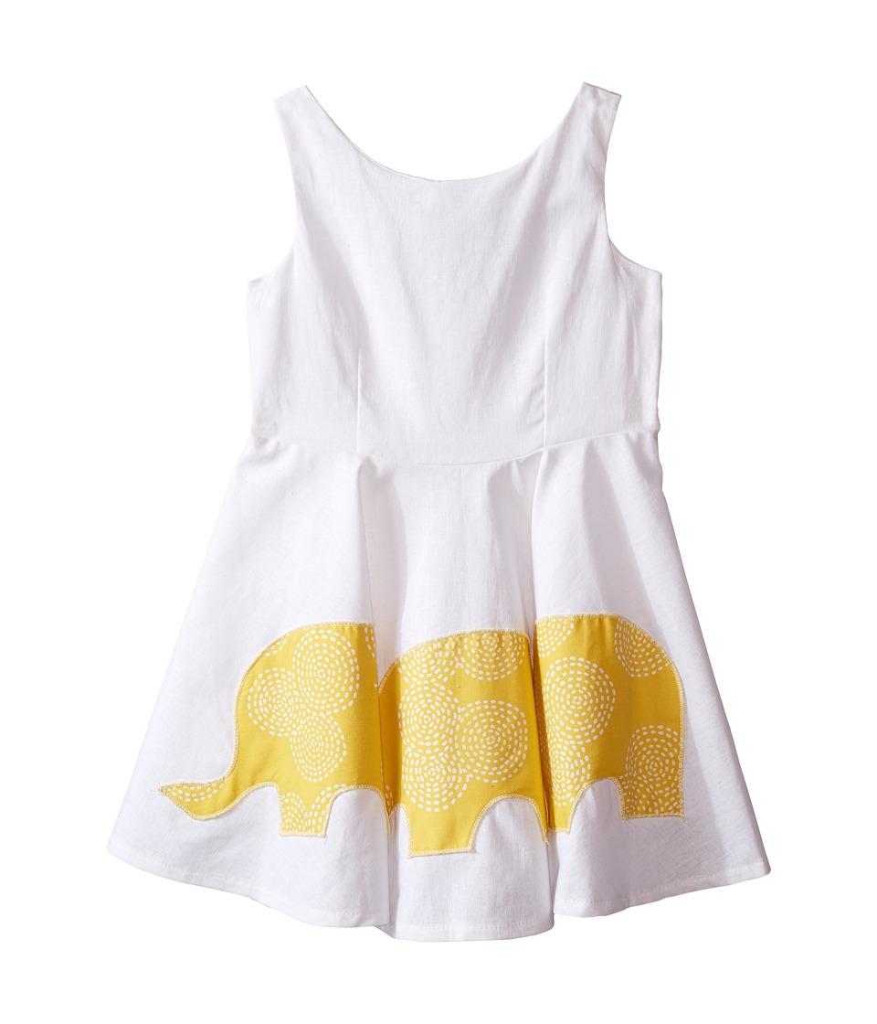 fiveloaves twofish - Eloise's Elephant Dress (Toddler/Little Kids) (White) Girl's Dress