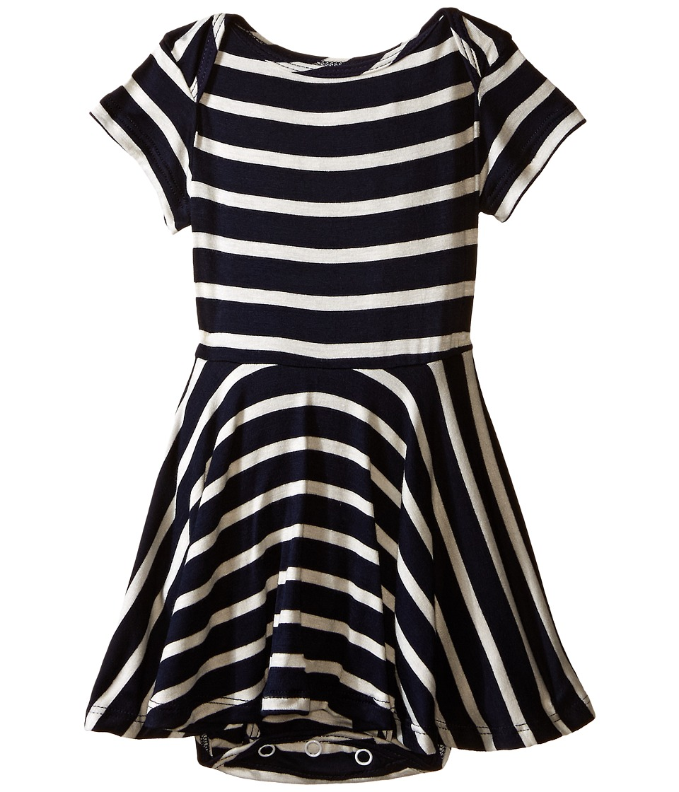 fiveloaves twofish - Jersey Stripe Dress (Infant) (Navy Stripe) Girl's Dress