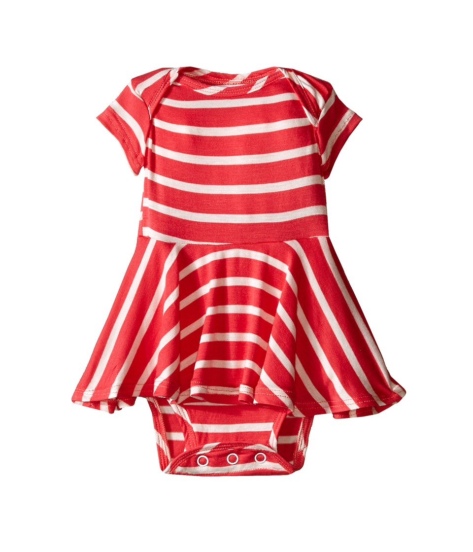 fiveloaves twofish - Jersey Stripe Dress (Infant) (Coral Pink) Girl's Dress