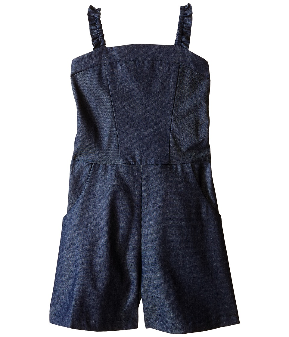 fiveloaves twofish - Delilah Romper (Little Kids/Big Kids) (Denim) Girl's Jumpsuit & Rompers One Piece