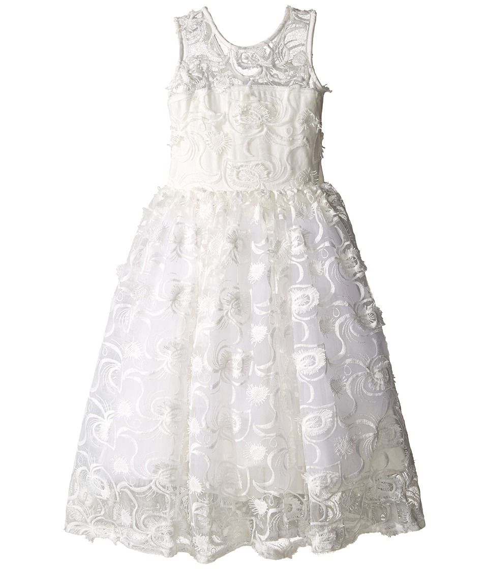 fiveloaves twofish - Hepburn Lace Midi Dress (Little Kids/Big Kids) (White) Girl's Dress
