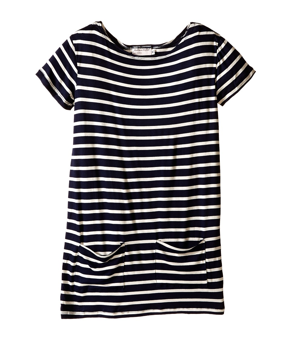 fiveloaves twofish - Jersey Stripe Shift Dress (Little Kids/Big Kids) (Navy) Girl's Dress