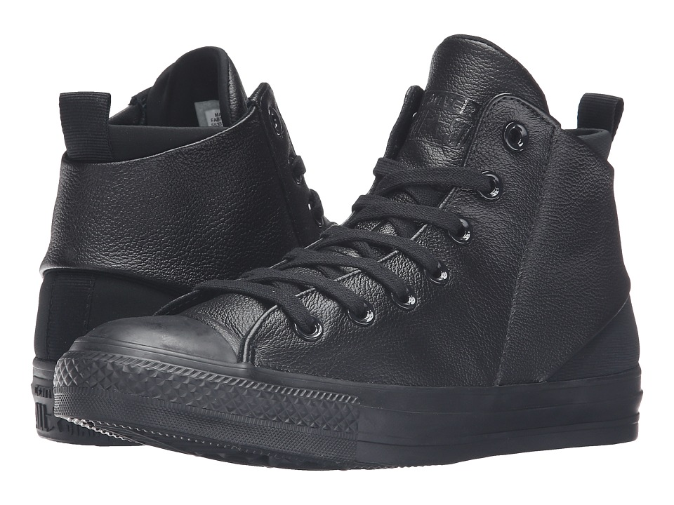 Converse Chuck Taylor All Star Sloane Monochrome Leather Hi (Black/Black/Black) Women