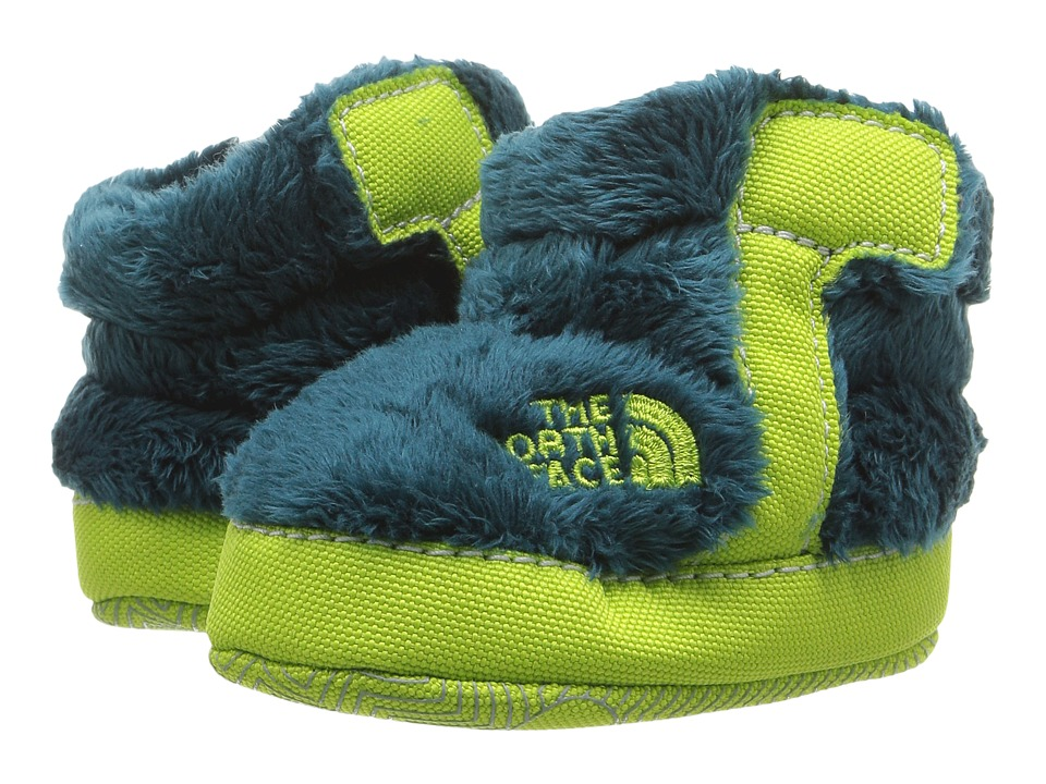 The North Face Kids - NSE Fleece Bootie (Infant/Toddler) (Deep Teal Blue/Lime Green) Boys Shoes