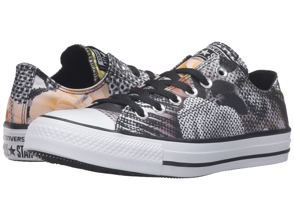 Converse - Chuck Taylor All Star Digital Floral Print Ox (Black/White/White) Women's Lace up casual Shoes