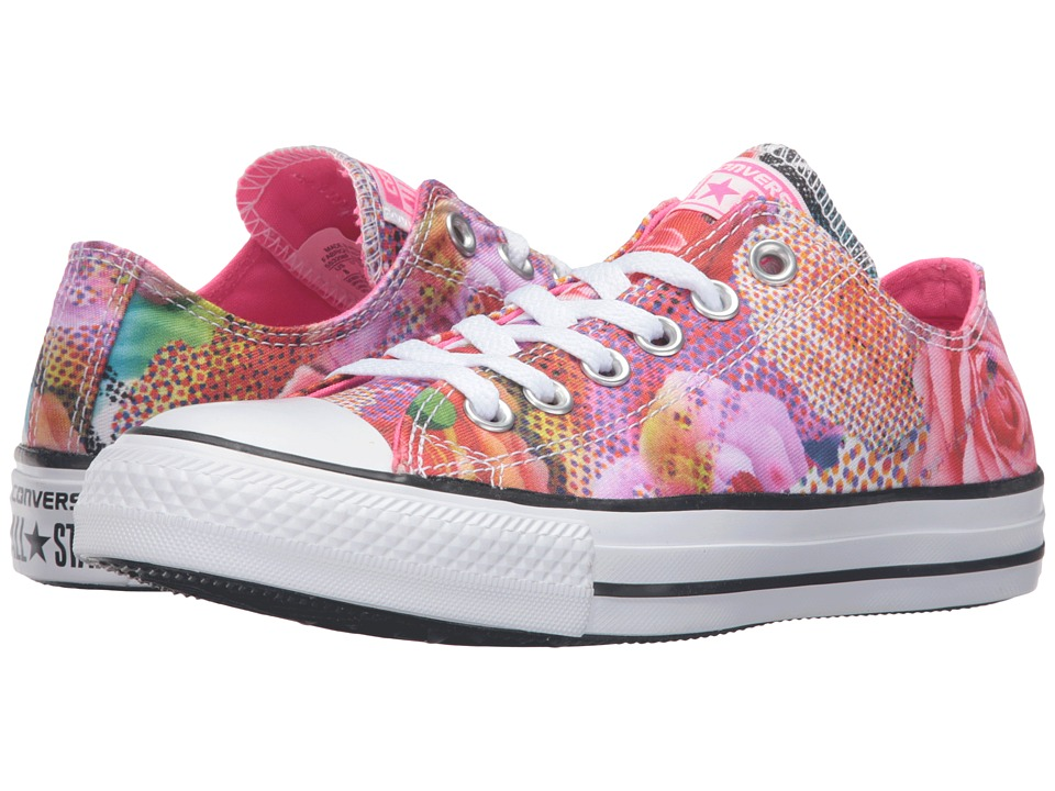 Converse - Chuck Taylor All Star Digital Floral Print Ox (White/Neon Pink/White) Women's Lace up casual Shoes