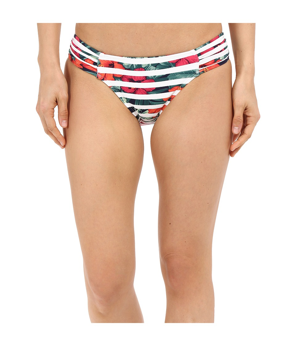 Tommy Bahama - Show Your Stripes Side Shirred Hipster (Multicolor) Women's Swimwear