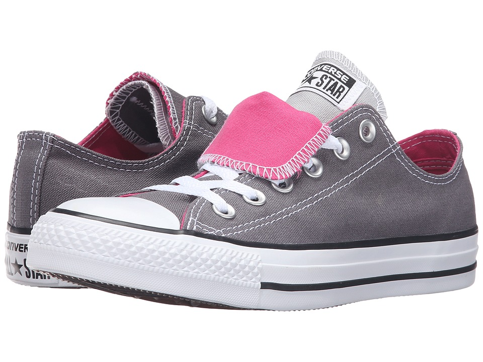 Converse - Chuck Taylor All Star Double Tongue Color Plus Ox (Rifle Grey/Ash Grey/White) Women's Lace up casual Shoes